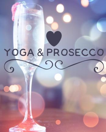 yoga and prosecco